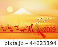 亥 富士山 年賀状 背景 44623394