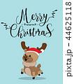Cute Reindeer Christmas Greeting Card. 44625118