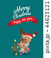 Cute Reindeer Christmas Greeting Card. 44625121