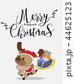 Cute Reindeer Christmas Greeting Card. 44625123