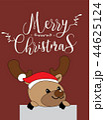 Cute Reindeer Christmas Greeting Card. 44625124