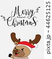 Cute Reindeer Christmas Greeting Card. 44625125