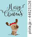 Cute Reindeer Christmas Greeting Card. 44625126