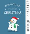 Cute Snow Christmas Greeting Card. 44625127