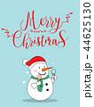 Cute Snow Christmas Greeting Card. 44625130