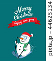 Snowman skiing with merry christmas 44625134