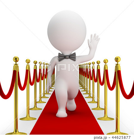 3d small people - red carpet 44625877
