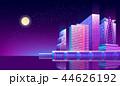 都市 夜 ネオンのイラスト 44626192