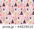 柄 背景 ピンクのイラスト 44629010