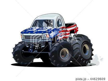 Vector Cartoon Monster Truck isolated on white 44629609