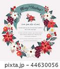 フレーム 花 リースのイラスト 44630056