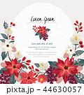 フレーム 花 ポインセチアのイラスト 44630057