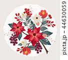 花 ベクター ポインセチアのイラスト 44630059