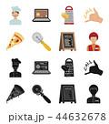 ピザ屋 アイコン セットのイラスト 44632678