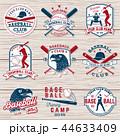 ベースボール 白球 野球のイラスト 44633409