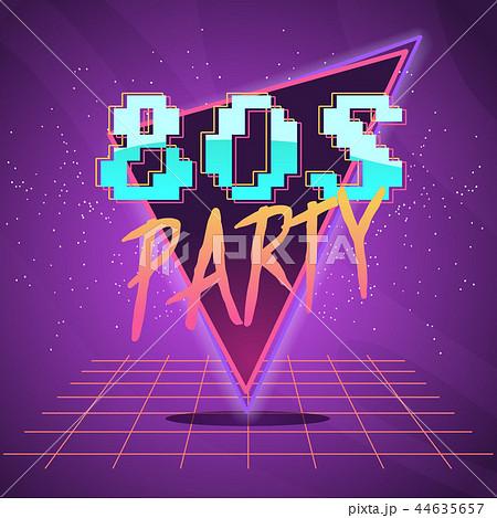 80s retro wave label 44635657