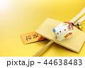 亥年 年賀素材〜白イノシシと破魔矢 44638483