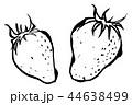苺 フルーツ 果実のイラスト 44638499