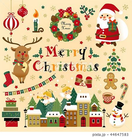 クリスマスの素材セット 44647583