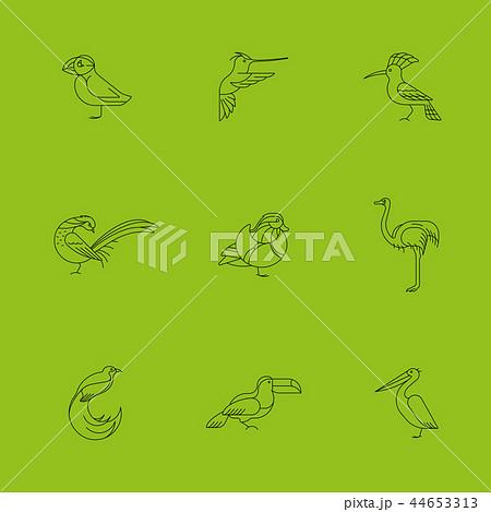 Birds set icon 44653313