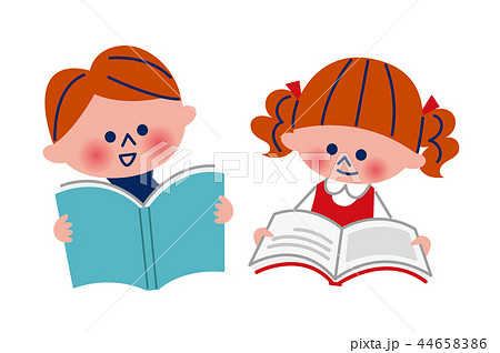 読書する子供 44658386
