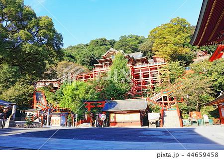 朝日を浴びる秋の祐徳稲荷神社(佐賀県鹿島市) 44659458