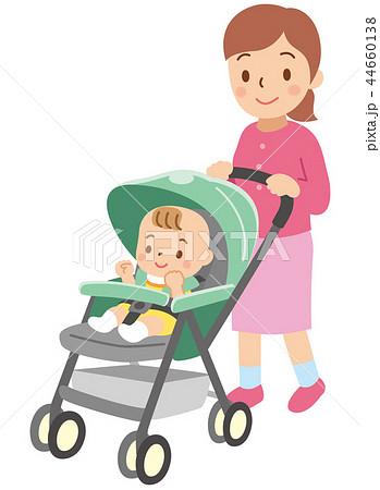 ベビーカーに乗った赤ちゃん 44660138
