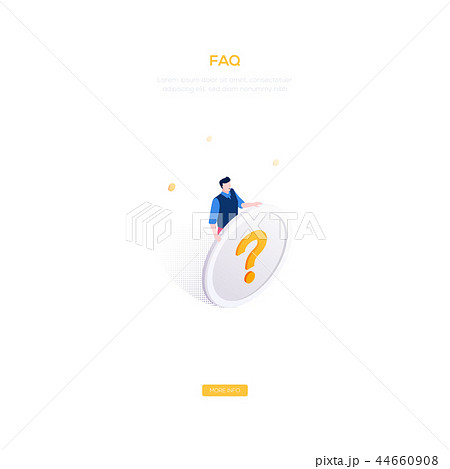 FAQ section - modern isometric vector web banner 44660908