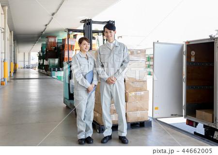 倉庫 物流 流通 フォークリフト トラック 44662005