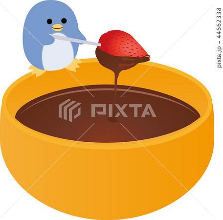 チョコレートフォンデュとペンギン 44662338