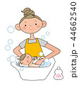 子育て 入浴 親子のイラスト 44662540