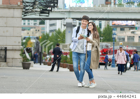 旅行 デート 韓国人 44664241