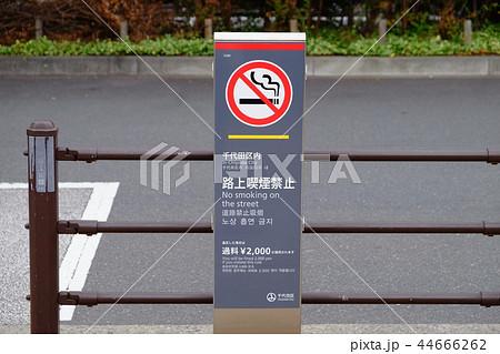 路上喫煙禁止看板 東京都千代田区 44666262