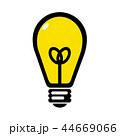 電球 電気 灯りのイラスト 44669066