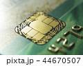 Gold credit cards close up. Macro shot smart card, credit card chip 44670507