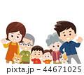 家族 秋服 犬のイラスト 44671025