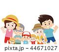 家族 夏服 犬のイラスト 44671027