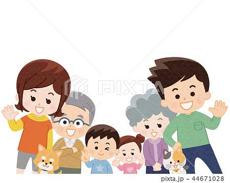 集合する家族 春服 44671028