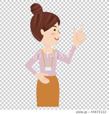 ビジネス 女性 カジュアル オフィスカジュアル ビジネスウーマン 44673122