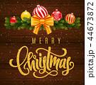 クリスマス ベクター メリーのイラスト 44673872