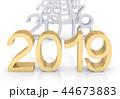 3D Golden Text 2019 44673883