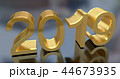 3D Gold Metal 2019 on Gray 44673935