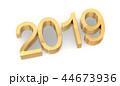 3D Golden 2019 on White 44673936