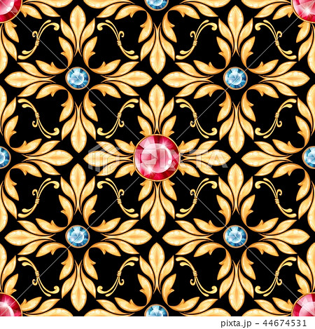 Seamless baroque pattern 4 44674531