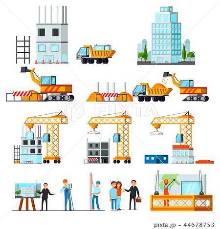 Sky Scraper Construction Flat Set 44678753