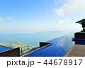 琵琶湖が見える天空のびわ湖テラス、びわ湖バレイ、美しい風景、滋賀県 44678917
