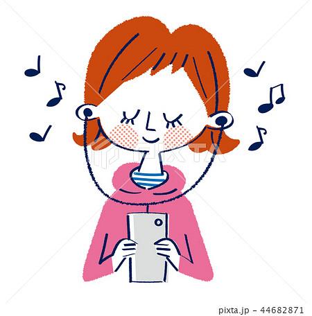 音楽を聴く女の子 44682871