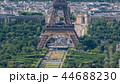 Aerial view from Montparnasse tower with Eiffel tower and Champ de Mars timelapse in Paris, France. 44688230