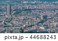 Top view of Paris skyline from observation deck of Montparnasse tower timelapse. Main landmarks of european megapolis. Paris, France 44688243