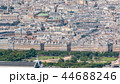 Top view of Paris skyline from observation deck of Montparnasse tower timelapse. Main landmarks of european megapolis. Paris, France 44688246